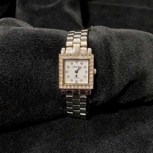 Croton stainless steel & crystal square watch